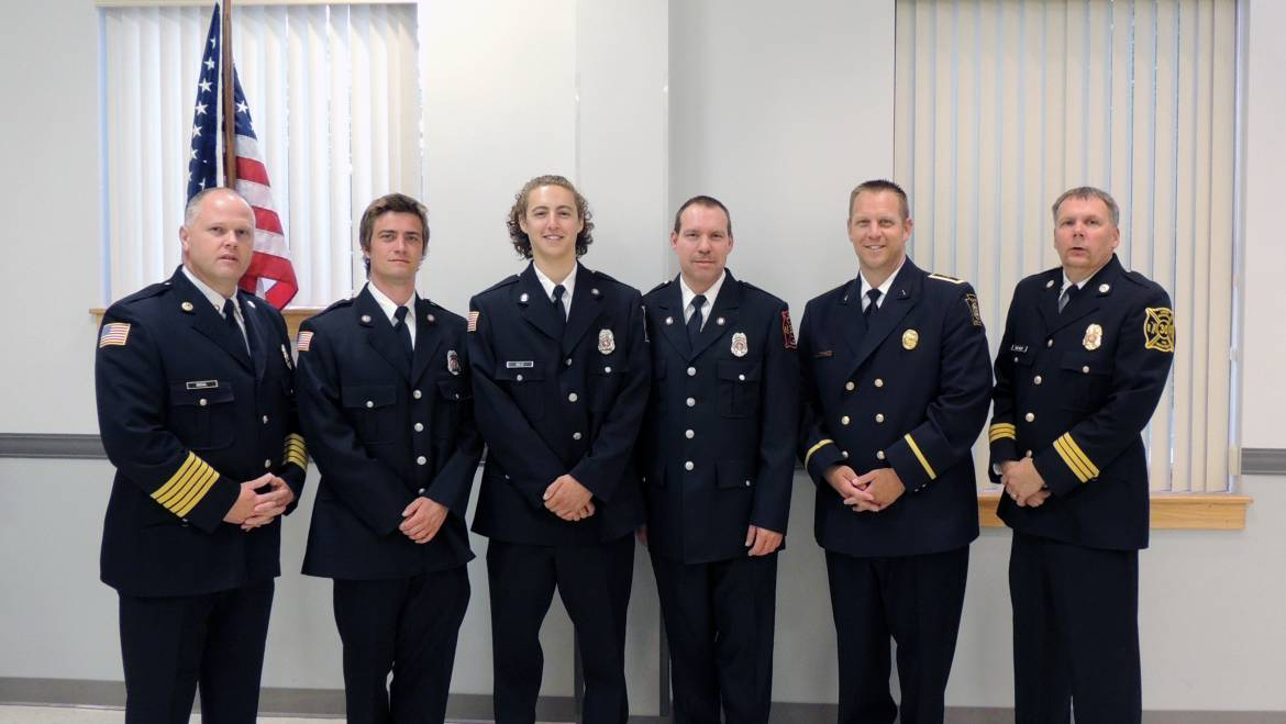 Three of our members recently received their National Firefighter 1 Certification