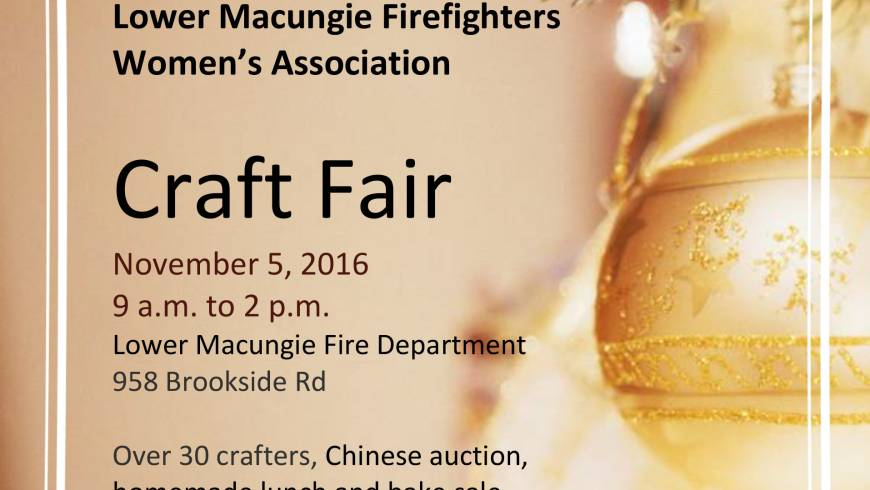 Craft Fair – November 5, 2016