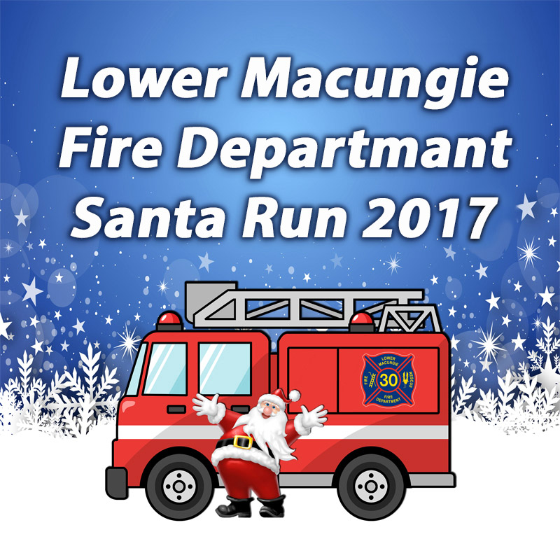 LMFD Santa Run 2017  | Tentative Scheduled Routes & Times